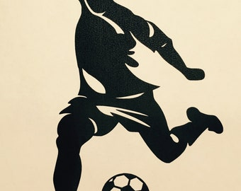 Soccer, Soccer Player, Metal Wall Decor, FREE SHIPPING