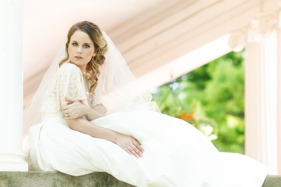 Blush Bridal Capelet, Blush Lace Bridal Shurg, Bridal Cover Up, Cape, Capelet, Victorian Cape, Lace Capelet, Pink Capelet, Blush Cape EMMA