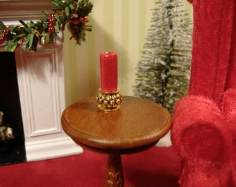 Dollhouse Miniature Holiday Candle