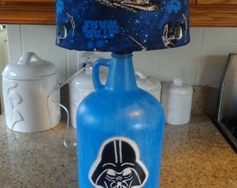 Decorative Table/Desk Lamp Star Wars (Hand-Painted Vader; Theme Shade)