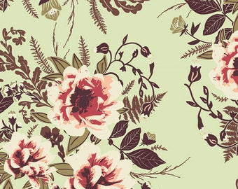 Wild Posy Luminous Cotton Fabric / Fabric By the Yard or Half Yard / Art Gallery Fabric, Floral Fabric, Forest Fabric, Quilting Fabric