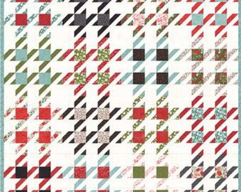 """Checkmate Quilt Pattern by Lella Boutique, #144, 80""""x80"""", 20"""" Block Size"""