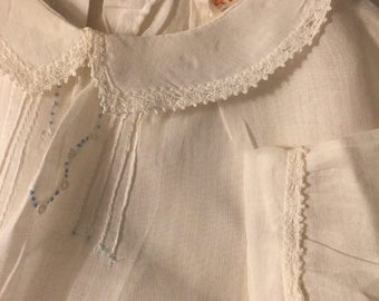 Precious Vintage antique Baby girl white dress 6mo darling display only pay ship for 1st baby items!