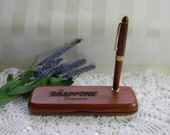Wooden Desk Pen Set
