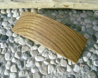 Wood HAIR BARETTE - From OAK Handcrafted Wooden Hair Barette
