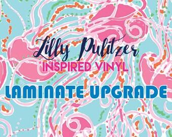 Lilly Pulitzer Inspired Vinyl LAMINATE Upgrade
