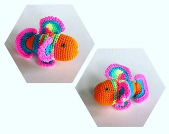 Colorful Fish Amigurumi - Hand Crocheted - plushie