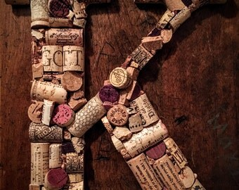 Wine Cork Letter Decoration