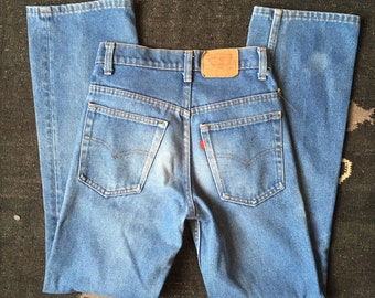 27-28 waist | Vintage 1970's Levis 717 Saddleman's Boot Cut Denim