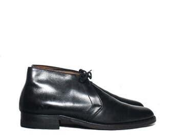 SALE 8 D | Men's Vintage Florsheim Chukka Black Dress Boots