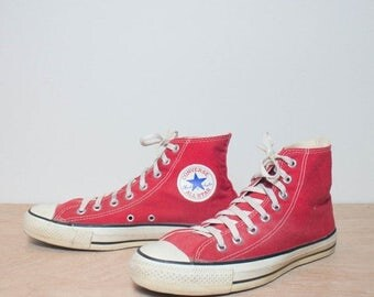 SALE 8.5 | Red High Top Converse Chuck Taylors
