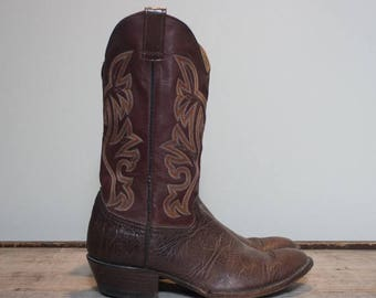 30% OFF 11.5 D | Men's Two Tone Brown Western Boots by Cowtown