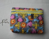 Adorable Zoo Babies Quilted Pouch