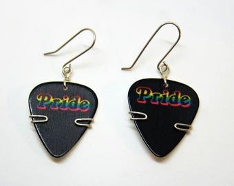 Pride Guitar Pick Earrings - Guitar Pick Jewelry