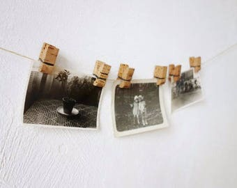 2 Vintage Cork Photography Clips