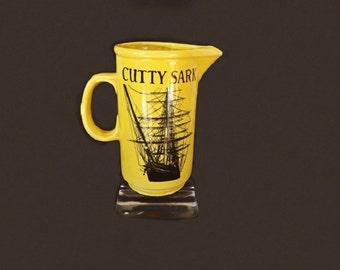 Vintage Cutty Sark Pub Jg, Whiskey Jug, Liquor Decanter, Liquor Advertisng, Water Pitcher, Barware, Bar Decor, Serving Pitcher