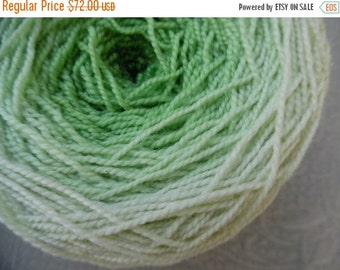 SALE - Metamorphosis gradient Yarn, superwash merino nylon sock yarn, spring green, double skein