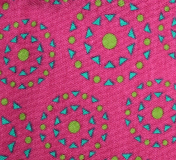 "Jersey knit fabric,Stretch knit fabric,Pink Medallion fabric,Soft Jersey knit fabric,JoAnn Fabrics,Apparel fabric,End of Bolt 32"" x 60"""