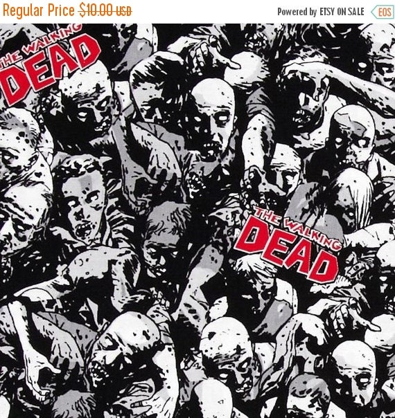 Zombie Fabric,Walking Dead Fabric,100% Cotton Fabric,Quilt Fabric,Apparel Fabric,Craft Fabric,Fabric by the YARD