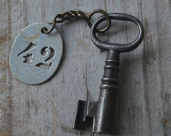 Antique Key and Tag