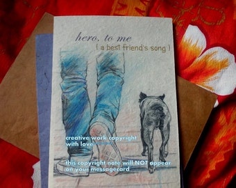 hero, to me/  storybook/sentimental/ personalize / Rescue/fosters/ New Adoption cards/unique empathy condolence/pet cards/chose an image