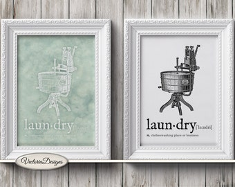 Laundry Dictionary Print Laundry Room Printable wall art DIY digital print instant download digital collage sheet - VDWAQU1593