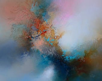 """Large Abstract Painting by Artist Simon Kenny """" If Heaven Allows"""""""