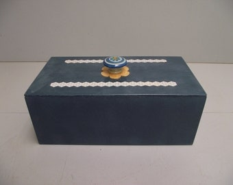 Box decorative storage for jewelry small items that need to be kept under cover.