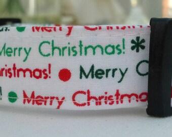Merry Christmas Dog Collar, Choose Your Dog Collar, Adjustable Dog Collar, Custom Dog Collar, Dog Collar, Holiday Collar, Cyber Monday Sale