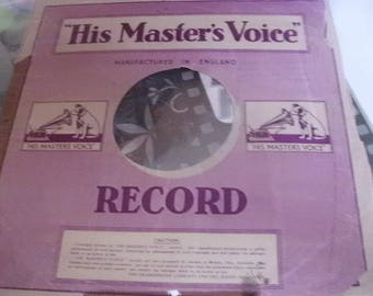 Free Shipping - Record Sleeve - HIS MASTER'S VOICE - English - Found In France