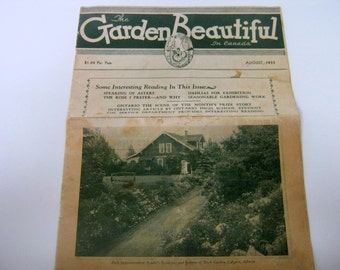 1933 the Garden Beautiful in Canada August Issue