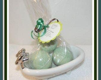 Muscle Rescue Bath Fizzy, Eucalyptus Bath Fizzies, Peppermint Bath Bombs, Rosemary Bath Fizzies, Set of 3 Bath Bombs, Bath Soak, Bath Bomb