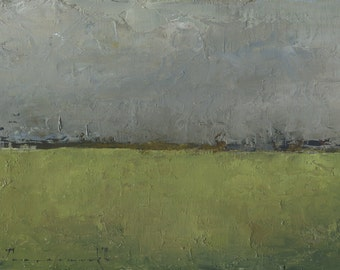Oil Painting Original by John Shanabrook - 5 x 7 - Fremont Dark