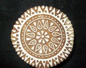 10% Off on Circle Mandala hand carved Indian block printing stamp/tjap/textile pottery stamp/ wooden block for printing on  paper and fabric