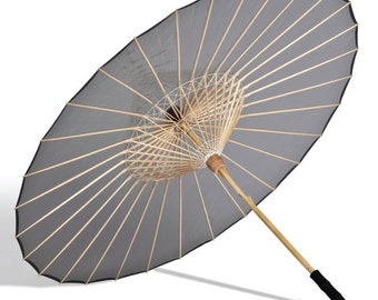 Grey biodegradable sun and rain umbrella 99% UVA/UVB/UVC( ultra violet) protective