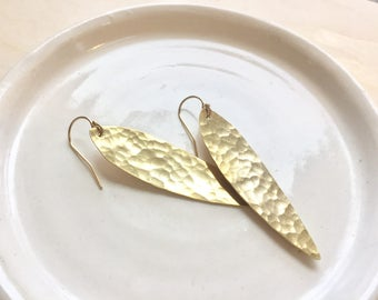 Elegant Gold Leaf Earrings