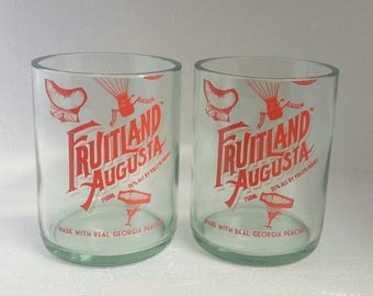 Fruitland Augusta Peach Vodka Rocks Glasses (2)