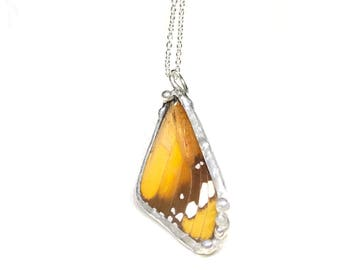 Real Preserved Butterfly Wing Necklace