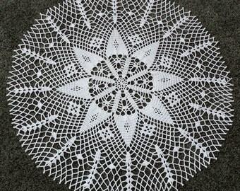 """New 20.5"""" handmade  crochet doily"""