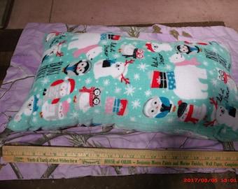 Homemade Pillow--Cute Winter Polar Bear/Penguin/Owl Print