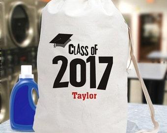 Personalized Graduation Class of 2017 Cotton Laundry Bag -gfy687792