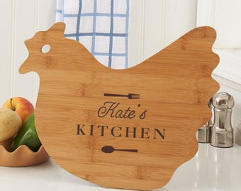 Engraved Any Message Hen Shaped Cutting Board, carving board, engraved, kitchen decor, name, personalized, housewarming -gfyL10998190Hen
