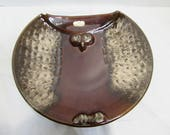Royal Haeger Owl Bowl - Brown Owl Dish - Kitschy Owl Bowl - Royal Haeger Pottery Bowl - Vintage Royal Haeger pottery dish