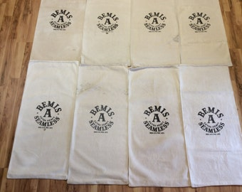 8 Pack of Bemis vintage sacks. 1113163