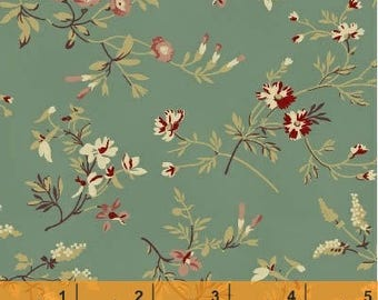 Coryn - Tossed Flowers Teal from Windham Fabrics