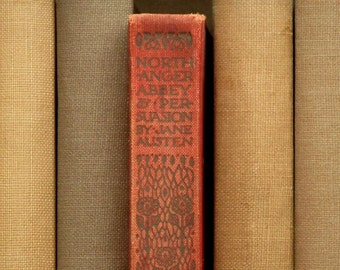 Vintage Northanger Abbey and Persuasion by Jane Austen 1920s book