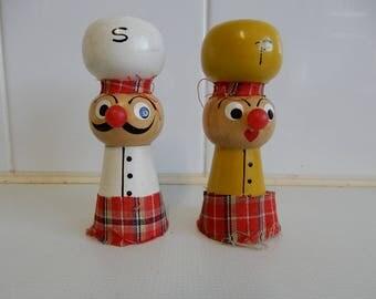 Salt & Pepper, Scottish Chef, wood, 1960s,