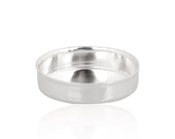 Sterling Silver Round Bezel Cup 9 mm Sold by unit