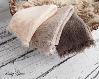 Newborn Stretch Wrap, Rustic Newborn Prop, Stretch Knit Wrap, Newborn Photo Prop, Photography Props, Newborn Swaddle Wrap, Boho Newborn Wrap