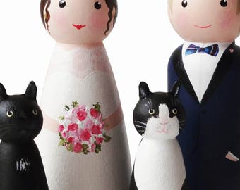Cat And Dog Peg Dolls Blank